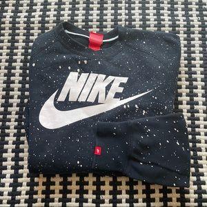 Nike splatter crew sweatshirt large
